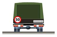 Знак ограничения скорости транспортного средства